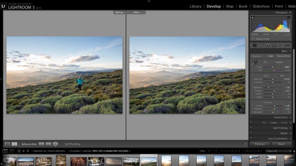 logiciel retouche photo Lightroom
