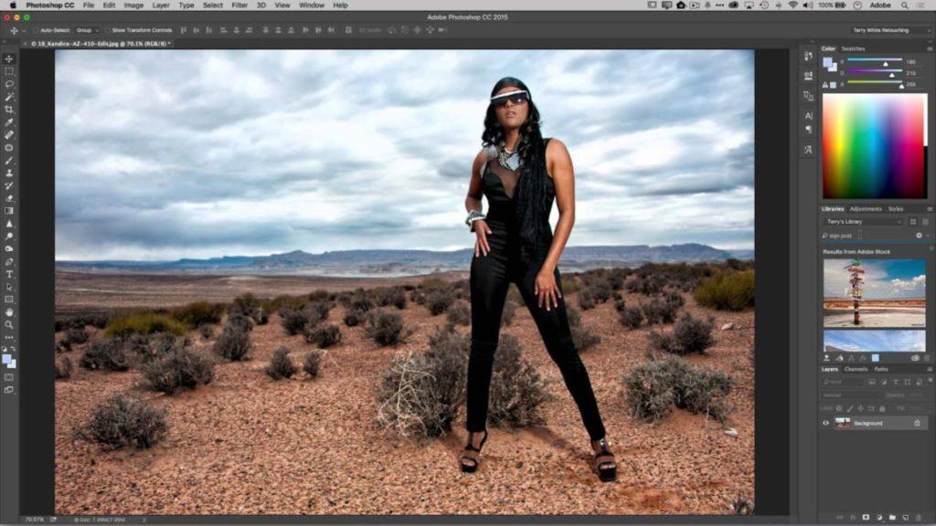 Adobe Stock et photoshop