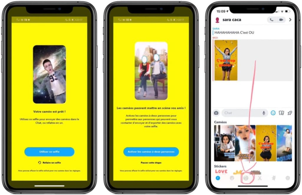 fonctionnalités vidéo Snapchat