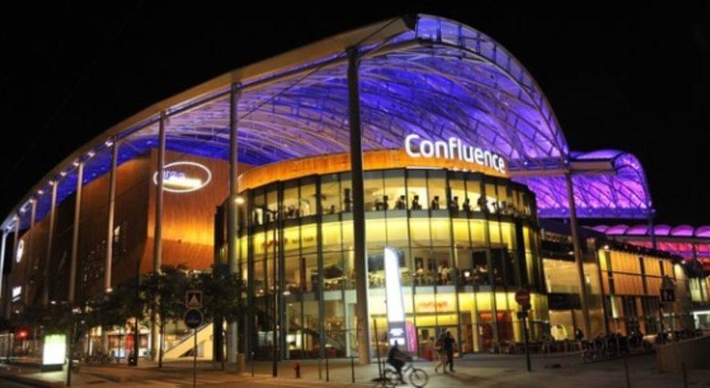 centre commercial de Confluence à Lyon